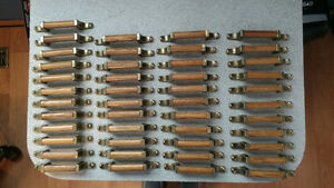 Brass/oak cabinet/drawer handles for kitchen/bathroom - $40 OBO