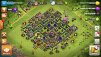 Clash of clans TH 9 MAX WITH 9000 gems