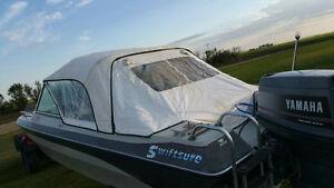 16' fiberglass swiftsure boat