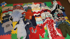 Boy clothing sizes 6 to 18 months