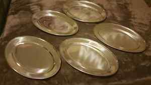 5 stainless steel serving platers Kitchener / Waterloo Kitchener Area image 1
