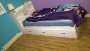 Twin Captains Bed with Dresser