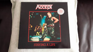 ACCEPT STAYING A LIFE DOUBLE GATEFOLD VINYL ! ORIG PRESS ! MINTY