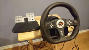 Cobra Racing Wheel & Pedals for PS3 & PS2 -  Playstation 3 and 2