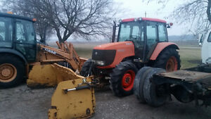 kubota 105x Tractor with storm snow blade Only 1700hrs