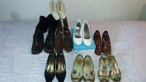 bottes d'hiver. souliers a talon haut. chaussure