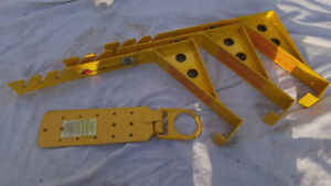 Three Roofing Brackets and Fall Arrest Harness Anchor