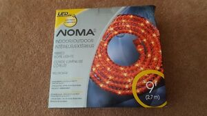 New in package Noma 9 ft red LED rope light