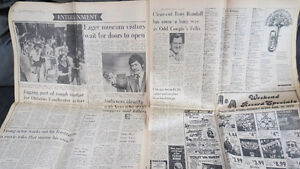 old newspapers(The Toronto Star, 1974, August 8,9)