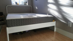 Double mattress and bed frame - less than a year old