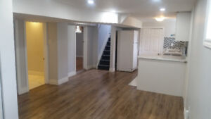 2 Bedrooms Luxurious  Basement in Lake Shore area for Rent