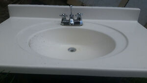 One peice sink counter