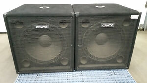 """TWO CRATE SUB WOOFERS 18"""" model P118S"""