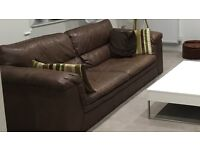 Brown Leather Sofa, was £1400 new