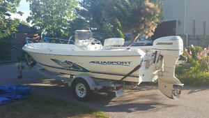 REDUCED $3K '03 20ft Aquasport Osprey CC WITH NEW 4-stroke 6HP
