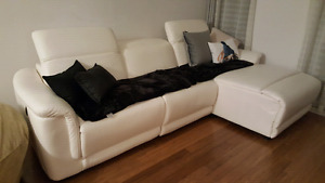 Brand New White Motorized Sectional Sofa