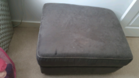 Footstool static fabric /available matches sofa