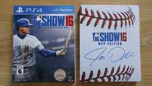 MLB 16 The Show MVP Edition PS4 en parfait état avec steelbook