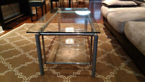 $90 Structube Coffee Table (glass and metal) in excellent shape