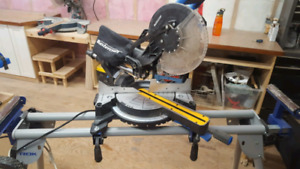 """Mastercraft 10"""" compound mitre saw and stand"""