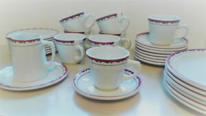 Duraline Coffee/Tea set of 8/side plates/jug Made in England