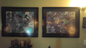 2 matching Art Gallery prints