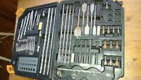 Farkin big tool box with drill bits, driver bits