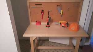 Childrens handcrafted tool bench