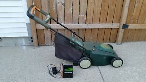 REDUCED battery opperated lawnmower. London Ontario image 2