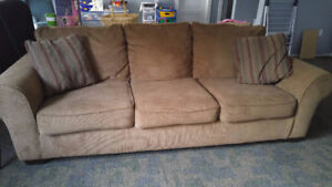 Soft Corduroy Couch and Large Chair