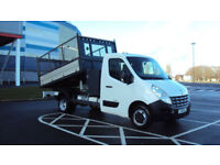 2011 RENAULT MASTER 2.3TD 125 Euro IV RWD CCMLL35dCi TW WHITE CAGED TIPPER