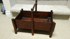 Primitive Wooden Sewing Box - 1940