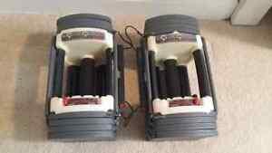 Powerblocks 5-50lbs adjustable dumbells