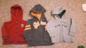 Boys 12 month hoodies lot of 3.