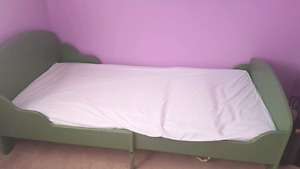 Ikea adjustable bed frame and mattress for sale