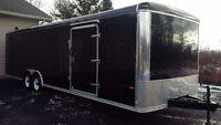 28 x 8 1/2 foot enclosed cargo trailer- Like New