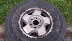 265/75/16 GMC 6 BOLT RIMS AND TIRES Belleville Belleville Area image 1