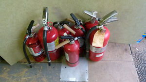 FIRE EXTINGUISHERS = Lot of 15 Fully charged