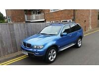 BMW X5 3.0 i Sport 5dr 2005 05 REG BLUE AUTO SAT NAV FULLY LOADED F.S.H 184K