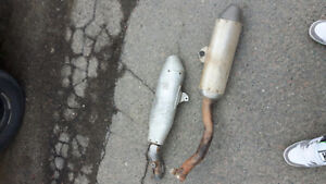 2 exhausts for a crf 250f and yz 250f