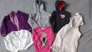 5 size 2. sweater/ hoodies