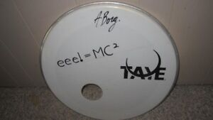 """20"""" TAYE Signed Bass Drum Front Resonant Head"""