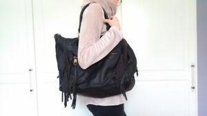 Steve Madden Black Handbag with Fringe