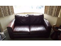 Free 3 seater 2 seater and armchair leather sofas