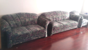 Moving sale, sofa, love seat, printer, queen bed headboard. More