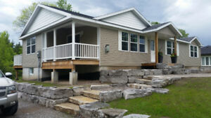 NEWLY BUILT 3 BEDRM BUNGALOW  IN BALSAM LAKE