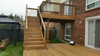 Decks and outdoor structures. We build 12 months a year!