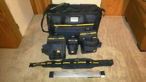 Mastercraft tool belt, pouches, bag, and mounting kit