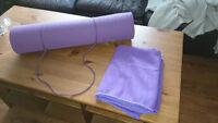 Yoga Mat with Matching Yoga Towel