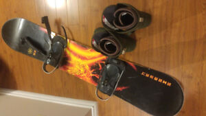 Snowboard and shoes men's size 12